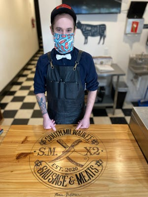 Michael Donnell is butcher at the new South Milwaukee Sausage & Meats, which opened in October at 1200 Milwaukee Ave. in South Milwaukee.