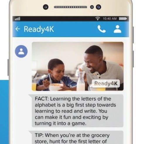 Screenshot of Ready4K message.