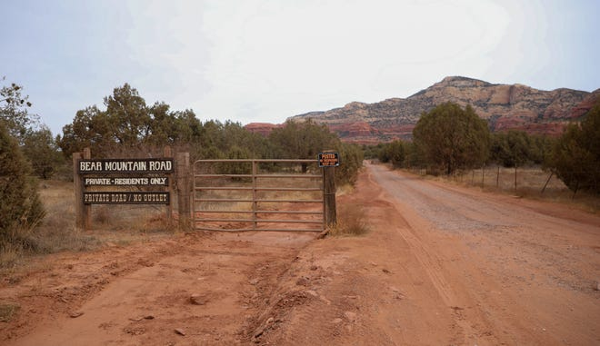 Charley and Rhoda Pitcher, who helped form the Save Bear Mountain coalition, live in a remote area of Yavapai County and can see the proposed development site at the base of Bear Mountain from their backyard.