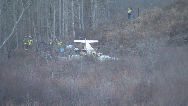 A plane crashed in LaGrange on Dec. 27, 2020.