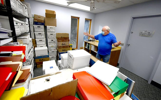 Newberry Township supervisor Dave Kirkpatrick shows a storage room at the township's administrative building Monday, Dec. 28, 2020. Bill Kalina photo