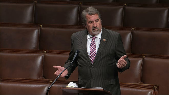 In this image from video, Rep. Doug LaMalfa. R-Richvale, speaks on the floor of the House of Representatives at the U.S. Capitol in Washington, on Thursday, April 23, 2020.