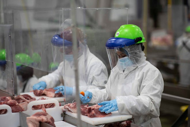 Food supply chain workers eligible for vaccine include grocery store employees, farm workers, cattle breeders, vets, dairy and meat plant employees.