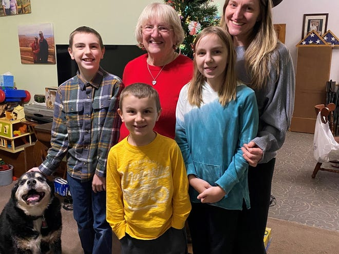 It's been months, but thanks to a pre-holiday quarantine. Susan Manzke enjoyed an in-person holiday with family from left, Eli, 11, Susan, Rachel, Wyatt, 7, and Arianna, 11.
