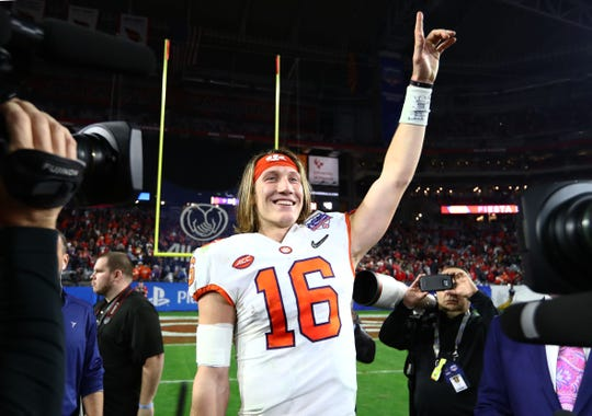 Clemson quarterback Trevor Lawrence is indeed the favorite to go No. 1 in the NFL draft.