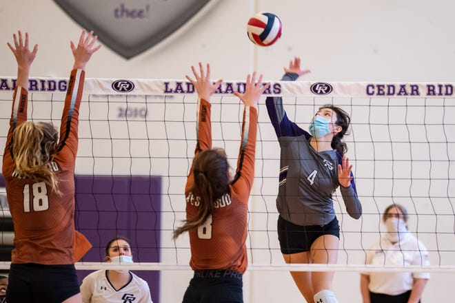 Cedar Ridge senior Alexis Ford earned most valuable player honors from the District 25-6A coaches after averaging a district-high 4.1 kills per set and added 1.2 digs per set.