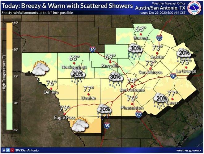 Forecast for Tuesday, Dec. 29, 2020.