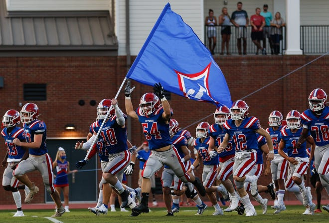 Scenes from a GHSA high school football game between Jefferson and Central Gwinnett in Jefferson, Ga., on Friday, Sept. 11, 2020. The Jefferson Dragons won, 61 - 7. (Photo/Kristin M. Bradshaw for the Athens Banner-Herald)