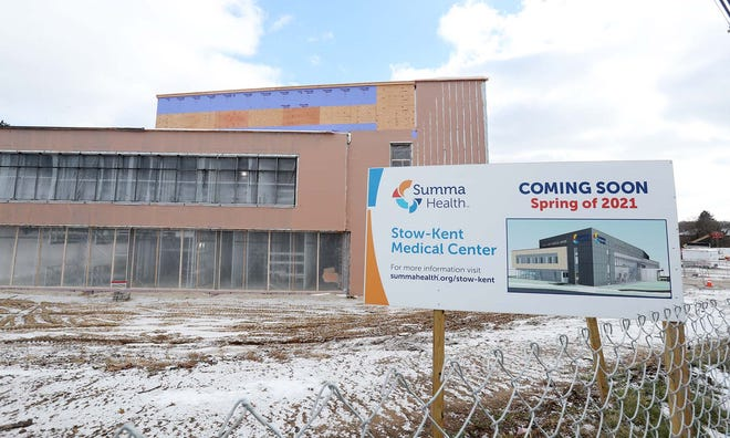 Summa Health Stow-Kent Medical Center under construction Tuesday, Dec. 29, 2020 in Stow, Ohio.