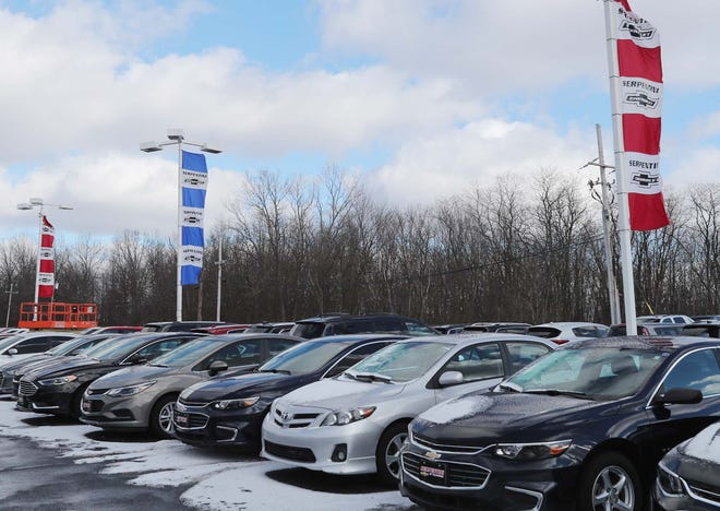 Serpentini Chevrolet Tuesday, Dec. 29, 2020 in Tallmadge, Ohio.The car dealership is planning to purchase 6 vacant acres adjacent to the property, wooded area in picture, in order to