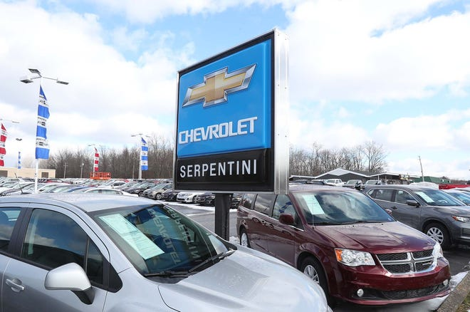Serpentini Chevrolet Tuesday, Dec. 29, 2020 in Tallmadge, Ohio.The car dealership is planning to purchase 6 vacant acres adjacent to the property in order to expand service operations and install a car wash.