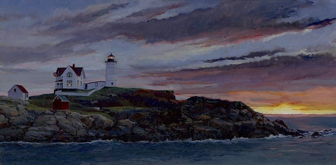 "Sacred Heart Cultural Center will feature paintings by Thomas A. Needham from Jan. 7 through Feb. 26. This one is titled ""Light House."""