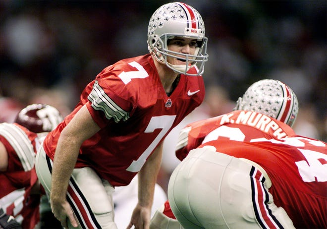 Quarterback Joe Germaine calls a play during Ohio State's 24-14 victory over Texas A&M in the 1999 Sugar Bowl.