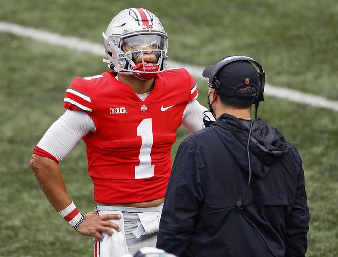 Ohio State quarterback Justin Fields is determined to bounce back from the worst performance of his college career.
