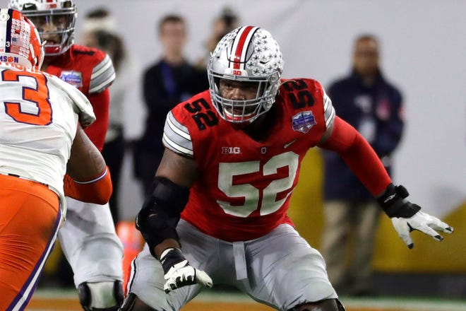 """""""What stood out to me the most, what I find to be the hard thing is how one day you can practice and the next day you're out a couple weeks because of COVID,"""" said Ohio State All-American offensive lineman Wyatt Davis, who has not contracted the virus. """"It's just a day-to-day thing."""""""