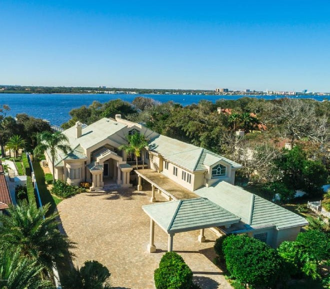 Sitting on 1.5 acres, with 111 feet on the Intracoastal Waterway, this one-of-a-kind Daytona Beach estate is a block from the ocean and minutes from the inlet.