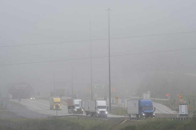Randy Musser, chairman of the Mountain Field & Stream Club Turnpike Committee, submitted this photo of heavy fog near the Allegheny Tunnel. He said it's indicative of the difficult weather on the mountain.