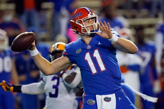 Florida quarterback Kyle Trask and the Gators face Oklahoma tonight in the Cotton Bowl.