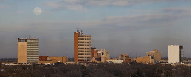 The downtown Lubbock skyline.