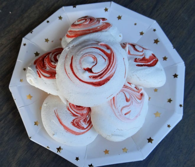 Meringues are very easy to make, and very cost-conscious. Just a few simple ingredients, an electric mixer, then a slow bake in the oven and these cloud-like puffs can be accomplished.