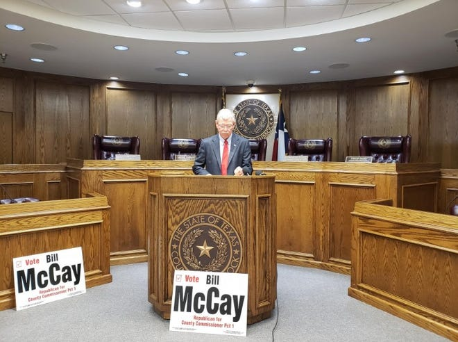 Commissioner Bill McCay announcing last year he would not be seeking a fifth term.