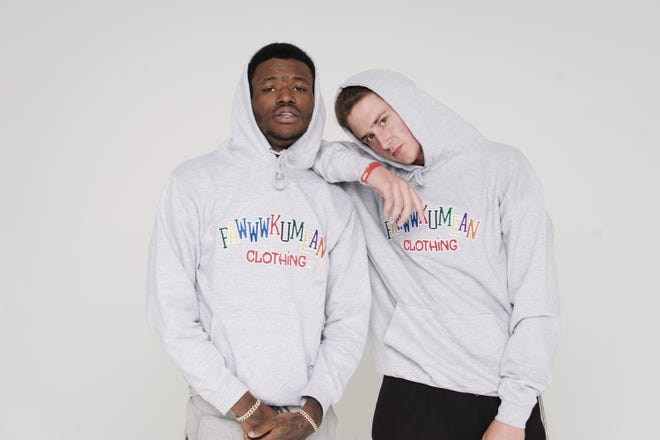 David Radsick and Dcyoungfly During a clothing line photoshoot in November 2019.