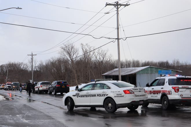 Whitestown Police and the Oneida County Sheriff's Office at January's homicide scene on Westmoreland Road in Whitestown.