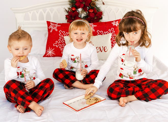 Macy, 4, Knox, 2, and Hinleigh, 5, ate up the cookies and drank the milk before Christmas, and might be celebrating New Year's Eve in similar fashion. Parents of the trio are Hannah Pace and Michael Burgess.