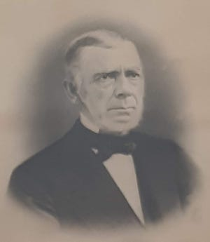 Isaac Chandler's portrait hangs in the Somersworth Public Library on Main Street.