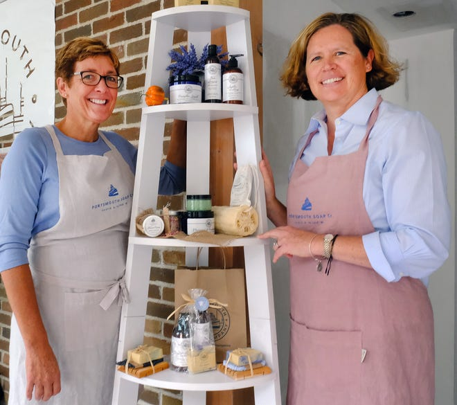 Lauren Wolf, left, and Tracey Graffam-Dickson, co-own the Portsmouth Soap Co., at 175 Market St., Portsmouth. They say increasing their online presence has been important to how they've coped with the pandemic and its impact on the retail economy.