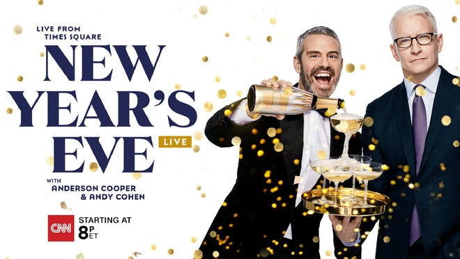 CNN's Anderson Cooper and Andy Cohen will host New Year's eve 2021 celebration live from Times Square, featuring cut-ins from Big Dog Ranch Rescue in Florida.