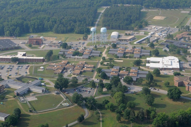 The entire 600-acre campus of Central State Hospital is shown in this undated file photo. Medical staff at the facility on the outskirts of Petersburg will soon begin receiving COVID-19 vaccinations, possibly as early as next week, according to state officials.