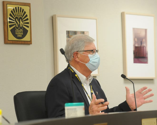While discussing the COVID-19 pandemic during the Saline County Commission meeting Tuesday morning, chairman Bob Vidricksen mentions that the deadline for spending COVID-19 relief funds has been extended past the Dec. 30 deadline.