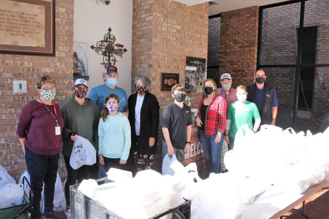 Dozens of volunteers helped serve Christmas Dinner at First Baptist Church of Stephenville on Christmas Day. More than 1,000 meals were served.