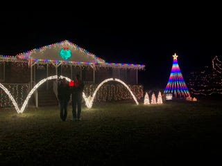 Johnette and Ricky Niec of 702 Clarendon Blvd. in Carolina Beach won first place in the Pleasure Island Chamber of Commerce and the Island of Lights festival's holiday light contest.