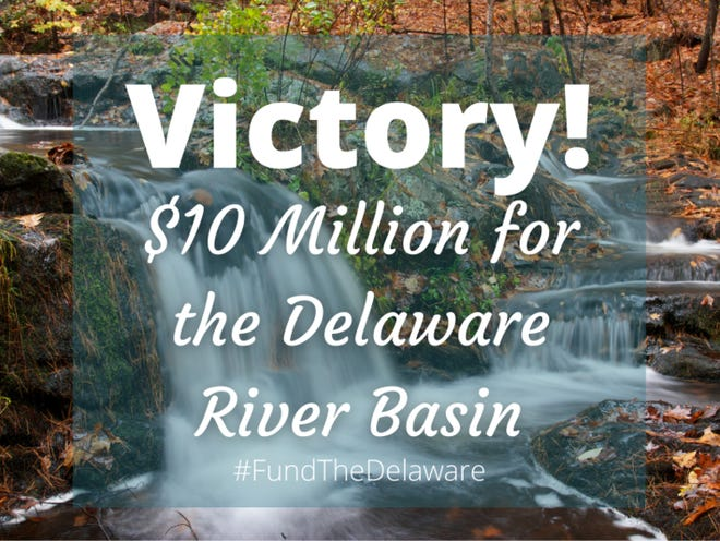 The Delaware River Basin Restoration Program received $10 million in funding as part of the fiscal 2021 Interior Appropriations bill approved by Congress and signed by the president, a modest increase from $9.7 million last year.