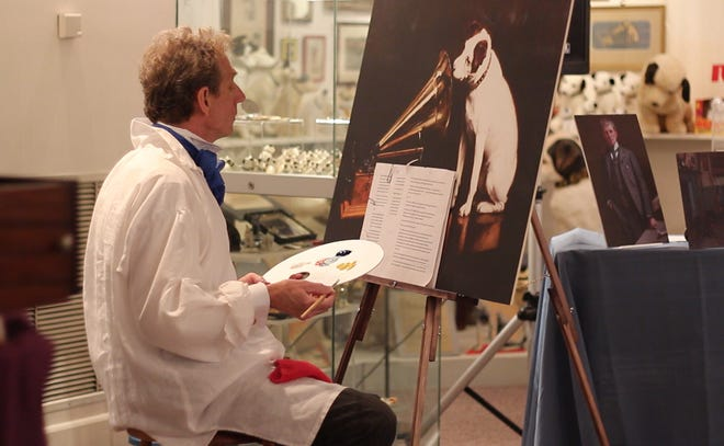 """Museum interpreter Steven Mumford will portray the artist whose painting of a dog staring into a talking machine became the trademark of the Victor Talking Machine Company. The program, """"Francis Barraud: His Master's Voice,"""" will be streamed live from the Johnson Victrola Museum on Jan. 22."""