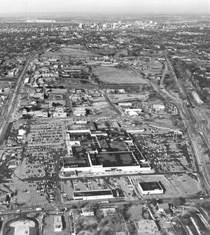 This aerial view of the former White Lakes Center shows the shopping center shortly after opening.