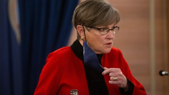 Gov. Laura Kelly discusses her decision to impose a statewide mask mandate in November. Multiple counties that initially opted into the mandate have reversed course in recent days. (November file photo/The Capital-Journal)