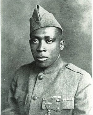 Henry Johnson received the Medal of Honor for bravery shown in World War I as part of the first Black unit in the U.S. Army to engage in combat in the war. He was born in Winston-Salem.