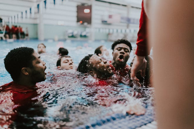 """NC State players participate in """"The Program"""" before the 2020 season begins."""