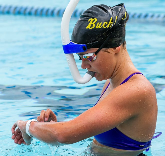 Buchholz's Georgia Bates is The Sun Girls Swimmer of the Year.