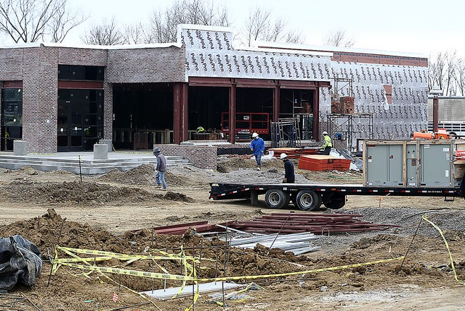 Walk-On's Sports Bistreaux is going up at 4306 Phoenix Ave. in Fort Smith. C.R. Crawford Construction crews are seen working on the restaurant Tuesday, Dec. 29, 2020.
