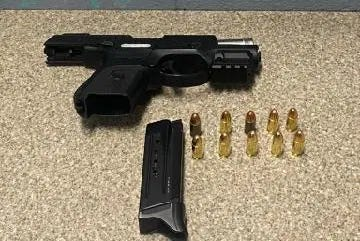 State police say they found a loaded, stolen gun in the car of Nick Cornay, 19, of Holbrook.