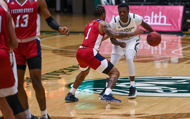 Colorado State sophomore guard Isaiah Stevens, shown in Monday's first game of the series against Fresno State, helped lead the Rams to a win on Wednesday to complete the sweep.