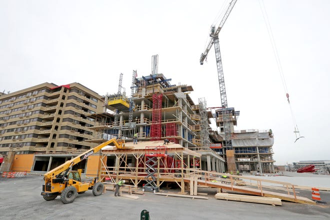 A 15-story, 168-unit apartment tower is being built on the Wauwatosa campus of St. Camillus Health System Inc. That tower, in the 10100 block of West Blue Mound Road, is to be finished in spring 2022.