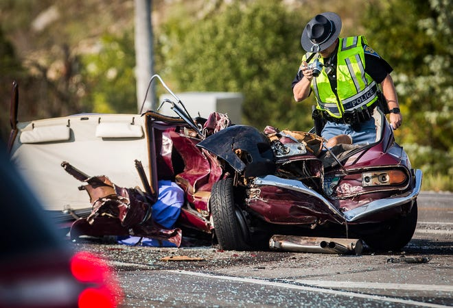 One person was killed in a crash involving three vehicles at McGalliard Road's intersection with the Muncie Bypass at around 4 p.m. Saturday, Sept. 26. Firefighters used the jaws of life to remove the body of the occupant of a sports coupe involved in the collision. Indiana State Police is investigating the incident.