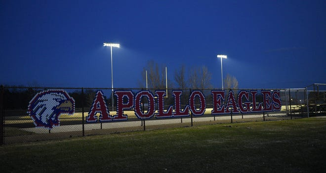The lights at Michie Field were turned on for 20 minutes from 8:20-8:40 p.m. to honor the Class of 2020 Wednesday, April 15, 2020, at Apollo High School.