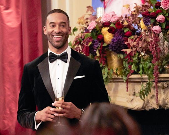"""Matt James meets his contestants on night one of """"The Bachelor."""""""