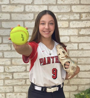 Skye Perez loves to volunteer at the Bastrop County Animal Shelter on weekends when she isn't playing softball.